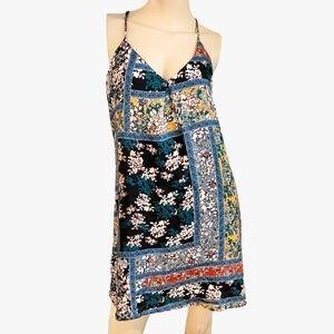 Abbeline patchwork floral racerback dress-S